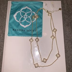 Long Kendra Scott Necklace in Gold